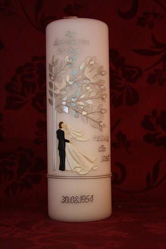 Diamantene Hochzeit Geschenk Kerze Diamantene Hochzeit Tischdeko