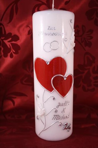 Kerze Silberhochzeit Sh 23 Geschenk Silberhochzeit Tischdeko