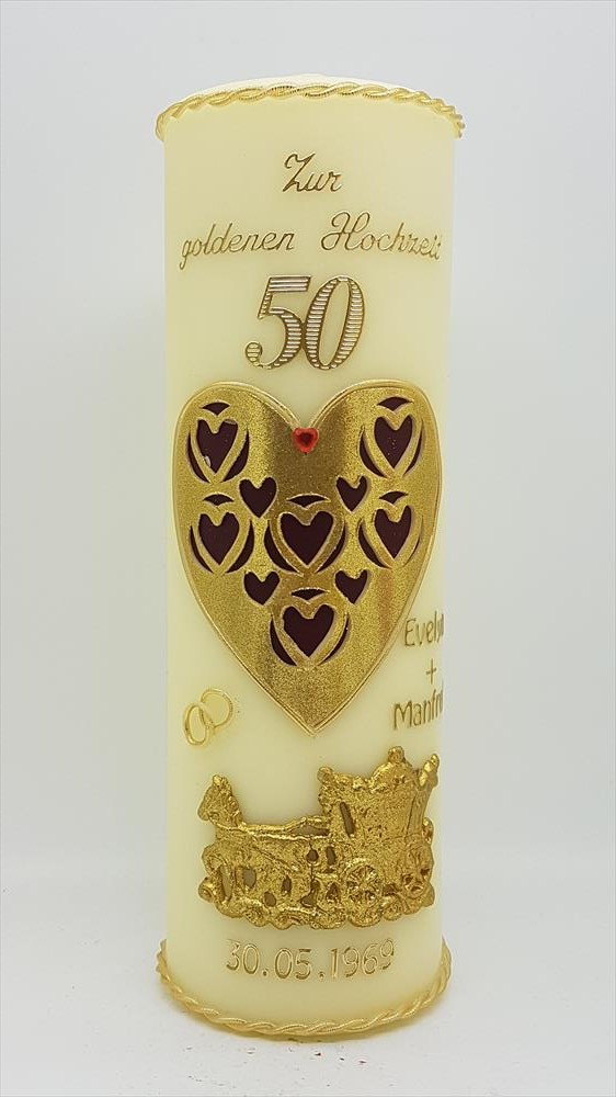 Kerze Goldene Hochzeit Mit Namen Datum Gh 29 In