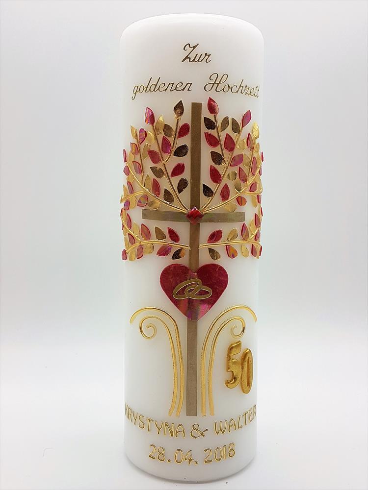 Goldene Hochzeit Kerzen Geschenk Goldene Hochzeit Tischdeko